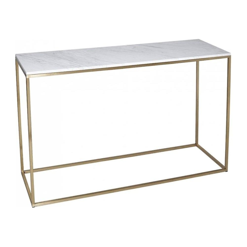 Gillmore Space blanc Marble And or Metal Contemporary Console Table