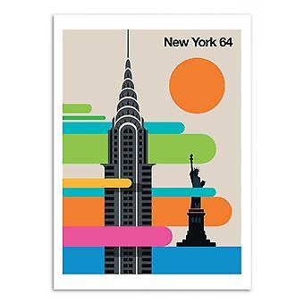 Art-affisch-New York 64-bo Lundberg 50 x 70 cm