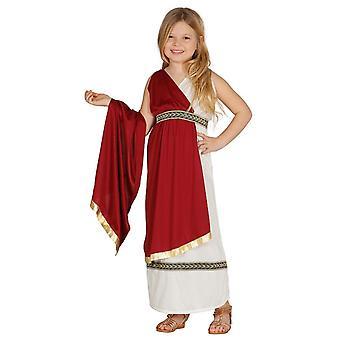 Costume de déguisements filles toge romaine