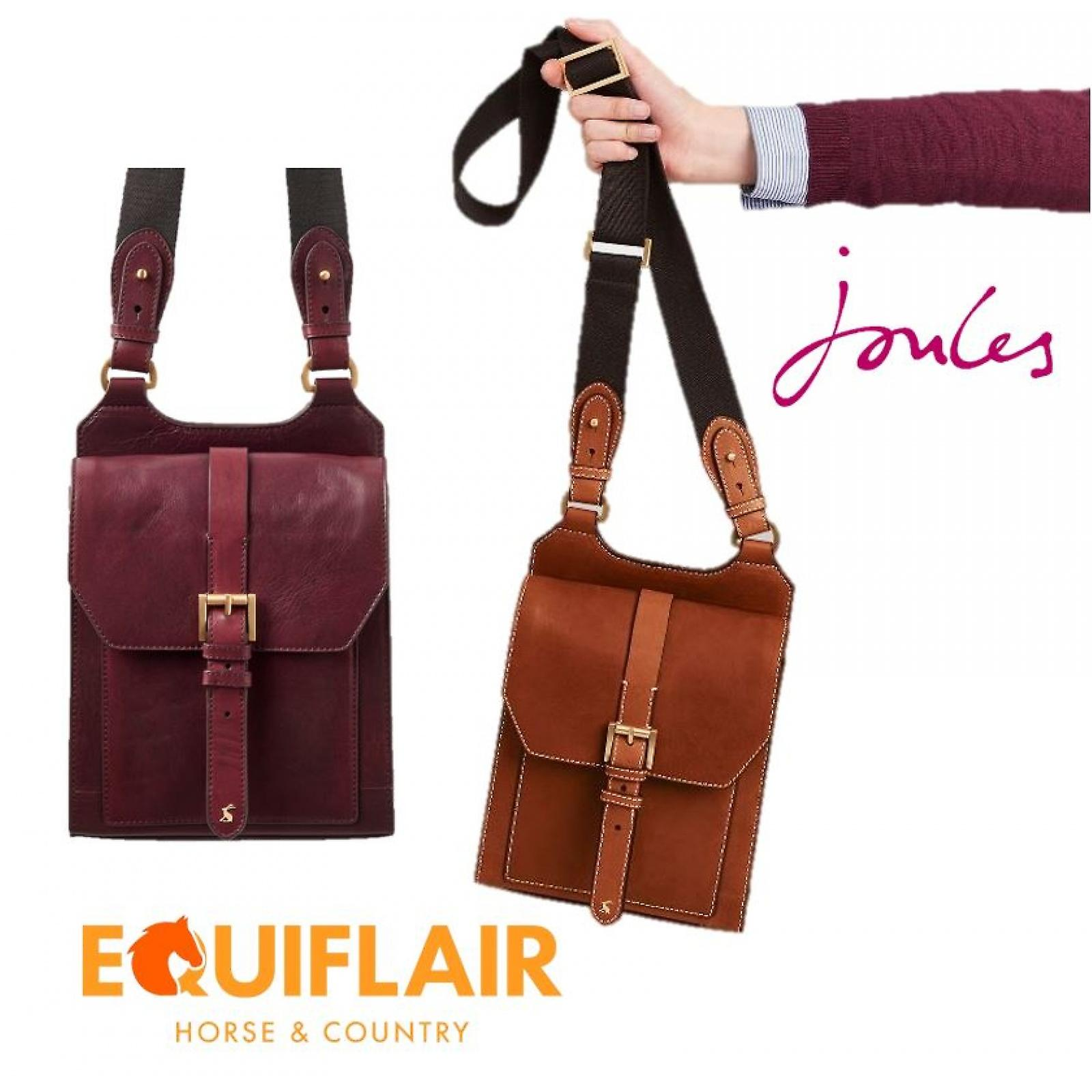 Joules Stratford Leather Cross Body Bag