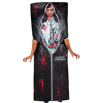 Mens Body Bag Halloween Fancy Dress Costume