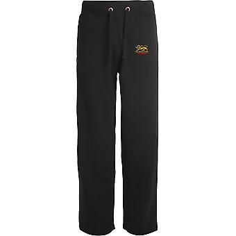Kings Own Royal Regiment Veteran - Licensed British Army Embroidered Open Hem Sweatpants / Jogging Bottoms