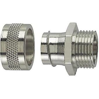 HellermannTyton 166-31005 PSC25-FM-M25 HelaGuard Metallic Conduit Screw Fitting Nickel-plated brass 21.1 mm Metal