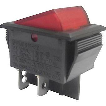 Toggle switch 250 Vac 10 A 2 x Off/On SCI R13-69B-01 RED latch 1 pc(s)