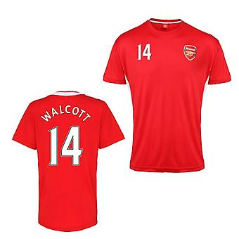 Official Arsenal Training T-Shirt (Red) (Walcott 14)