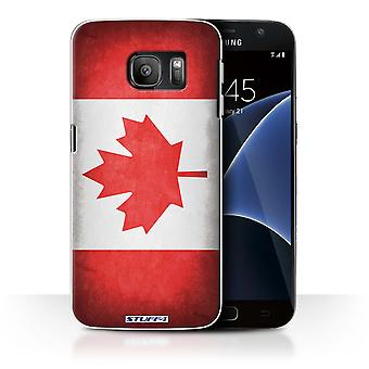 STUFF4 Case/Cover for Samsung Galaxy S7/G930/Canada/Canadian/Flags