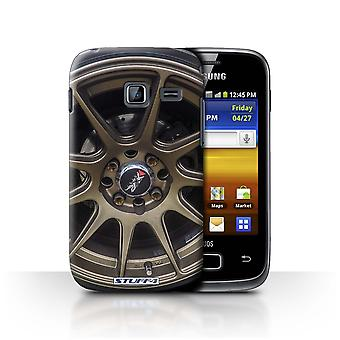 STUFF4 Case/Cover for Samsung Galaxy Y Duos/S6102/Gold/Bronze/Alloy Wheels