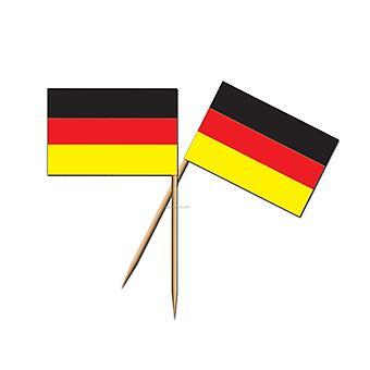 German Flag Toothpicks, Pack of 50