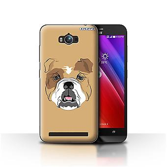 STUFF4 Case/Cover for Asus Zenfone Max ZC550KL/Dog/Bulldog/Animal Faces