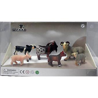 Wenno Box 6 Animals Farm Deluxe (Toys , Dolls And Accesories , Miniature Toys , Animals)
