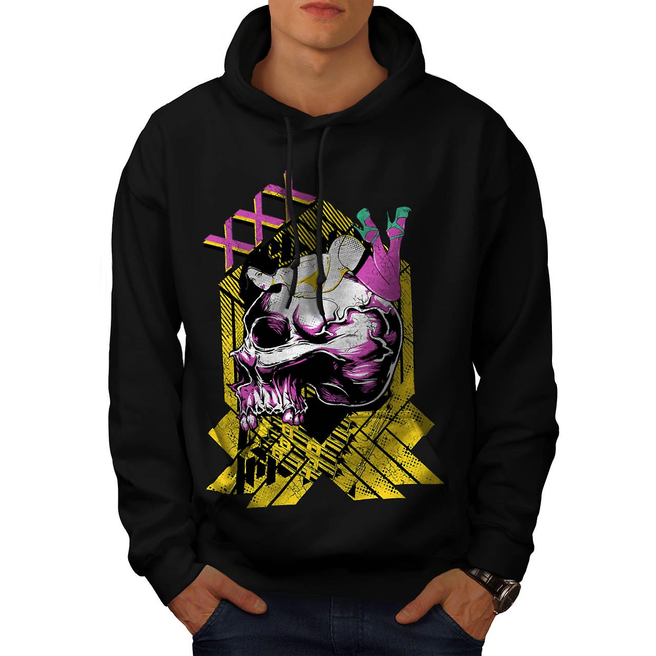 Séduction morte XXX X crâne nominale hommes Black Hoodie | Wellcoda