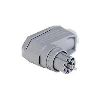 Mains connector ATT.LOV.SERIES_POWERCONNECTORS N Socket, right angle Total number of pins: 6 + PE 5 A Grey Hirschmann N