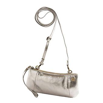 Dr Amsterdam shoulder bag/Clutch Mint Crackle Silver