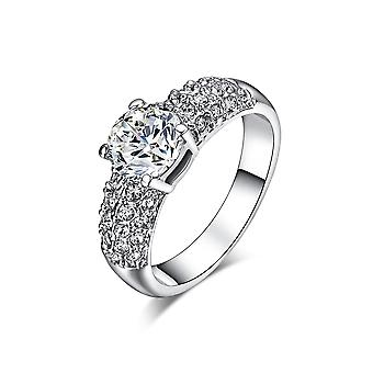 18K Gold Plated 1.5ct Cubic Zirconia Ring