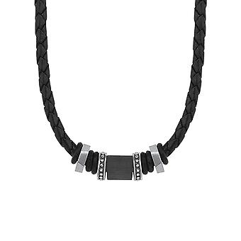 s.Oliver jewel men's leather chain stainless steel 2015067