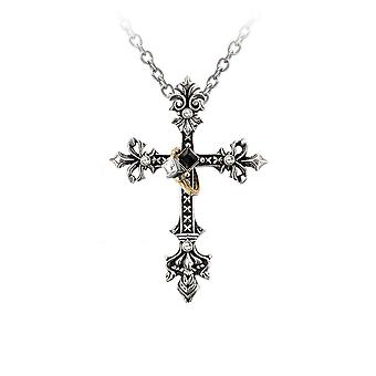 Alchemy Gothic Maryam Theotokos Ring Cross Pendant