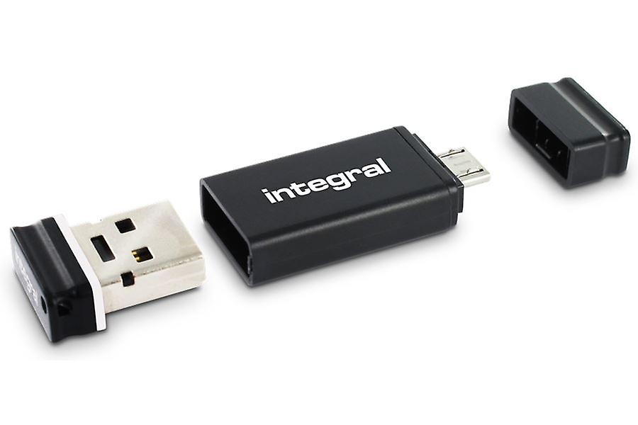 Integral USB OTG Adapter with 4GB Fusion 2.0 USB Flash Drive included.