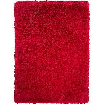 Varm rød blød Shaggy tæppe - Barrington