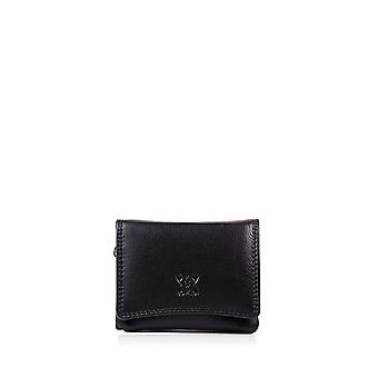 Leather Purse 10cm in Black