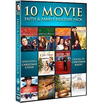 10 Movie Faith & Family Holiday Pack [DVD] USA import