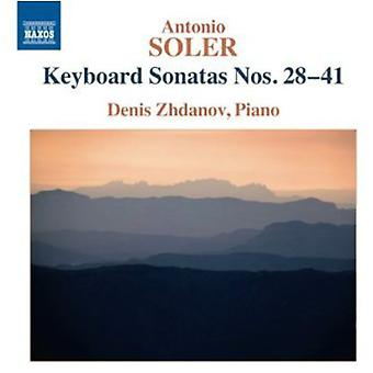 A. soler - Soler: Tangentbord sonater nr 28-41 [CD] USA import