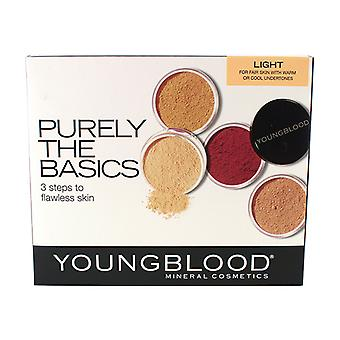 Youngblood Puur De Basis Kit - #Light (2xFoundation, 1xMineral Blush, 1xSetting Poeder, 1xBrush, 1xMineral Powder) 6st