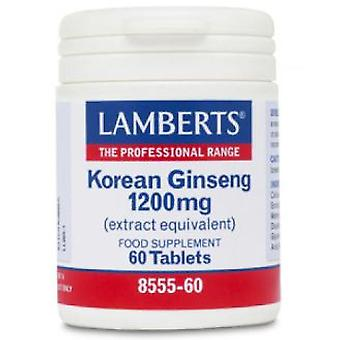 Lamberts Cap. Ginseng 1200 Mg 60 Cap (Vitamines en Suplementen , Multinutrients)