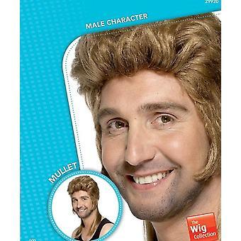 Super redneck wig fraternity mullet wig, dark blonde