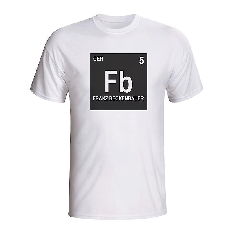 Franz Beckenbauer Germany Periodic Table T-shirt (white)