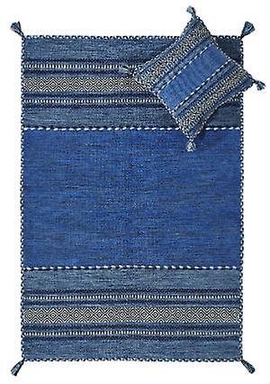 Kelim Bleu Coussin Tapis Tapis modernes