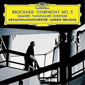 Bruckner / Nelsons / Gewandhausorchester Leipzig - Sinfonie Nr. 3 / Wagner: Tannhäuser-Ouvertüre [CD] USA Import
