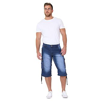 Men's Denim Cargo Shorts multiple pockets