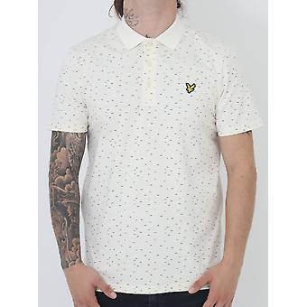 Lyle and Scott Fil Coupe Polo - Off White