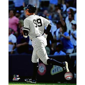Aaron Judge hits his 50th Home Run of the season- the most ever by a rookie- September 25 2017 Photo Print