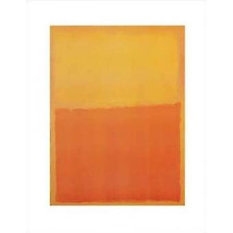 Orange and Yellow Poster Poster Print by Mark Rothko