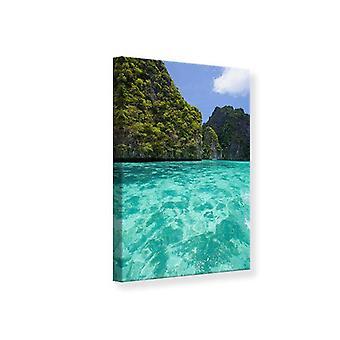 Canvas afdrukken de Kliff en de zee
