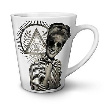 Illuminati Horror Fashion NEW White Tea Coffee Ceramic Latte Mug 17 oz | Wellcoda