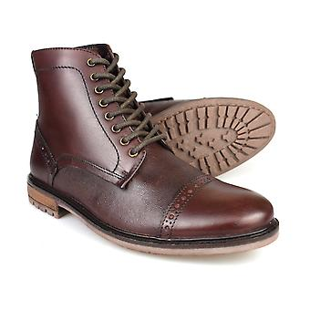 Silver Street Monmouth Oxblood Leather Mens Formal Boots