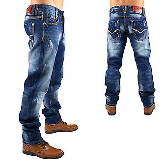 New style men's Jeans pants designer vintage destroyed clubwear thick seam