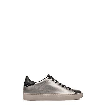 Crime London Damen 25402A17B62 Silber Leder Sneakers