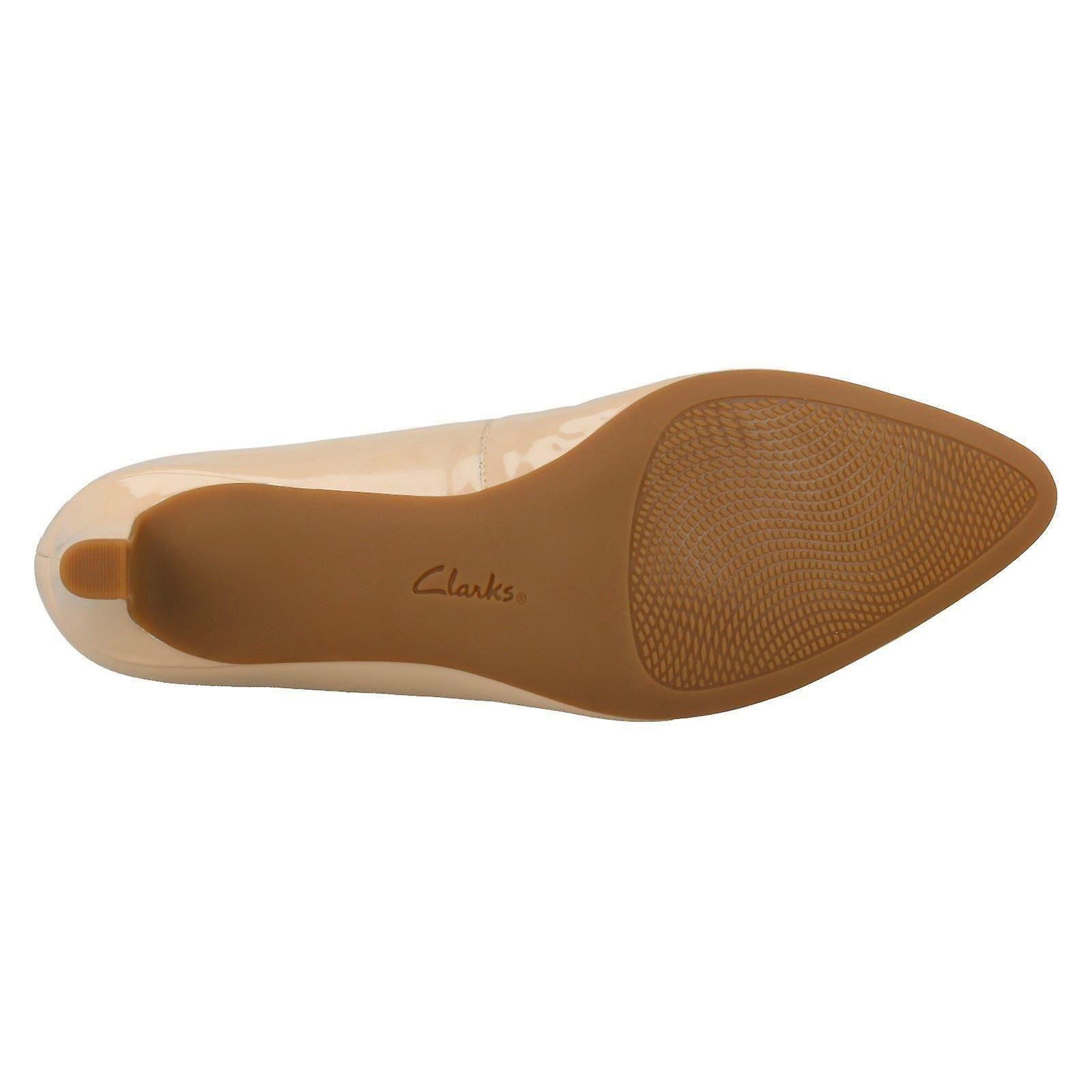 5M US UK Size Ladies Clarks Calla Shoes Cream Court EU Textured Patent 39 6D Size 8 5 Rose Size pZp8U