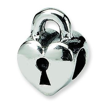 Sterling Silver Reflections Kids Heart Lock Bead Charm