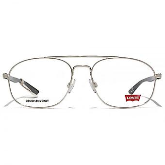 Levis Square Pilot Style Brille In Silber
