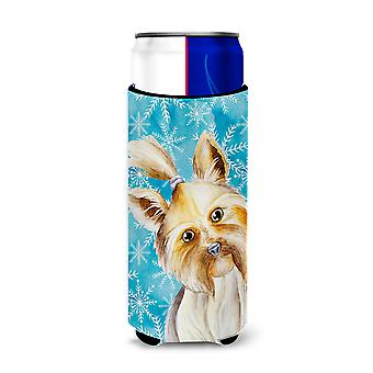 Yorkie Yorkshier Terrier Winter Michelob Ultra Hugger for slim cans