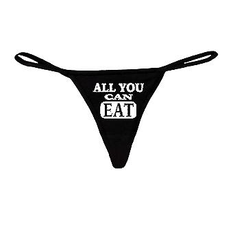 Sexy Funny  Women's Made in USA Black Thong G-string: WHITE