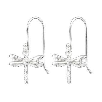 Dragonfly - 925 Sterling Silver Plain Earrings - W35120x