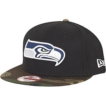 Black camo new era 9Fifty Snapback Cap - Seattle Seahawks