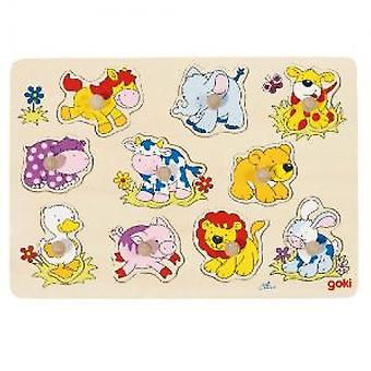 Goki Lift out puzzle, baby animals II