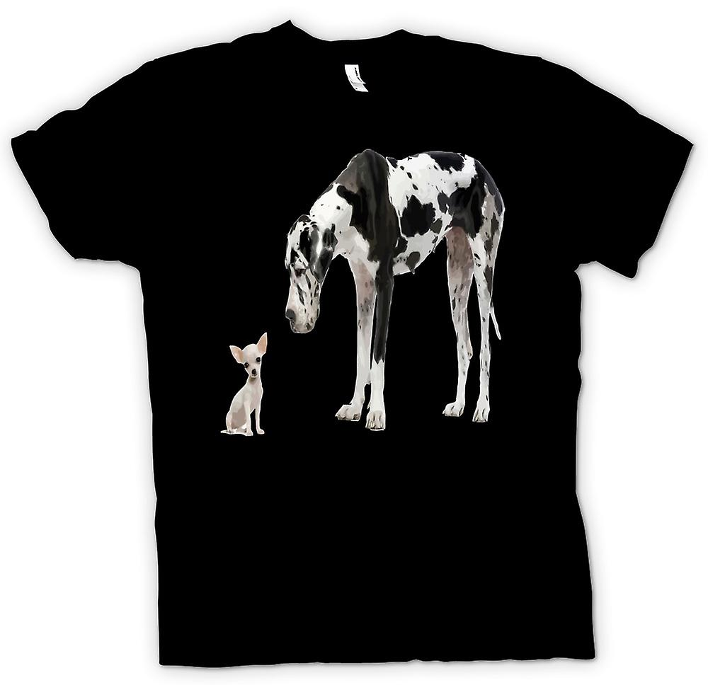 Kids T-shirt - Great Dane And Chihuahua Cut Pet Dogs