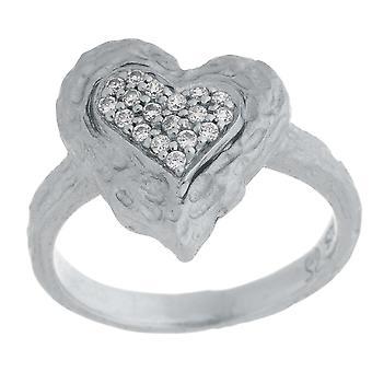 Orphelia Silver 925 Ring Heart  Zirconium   ZR-7082